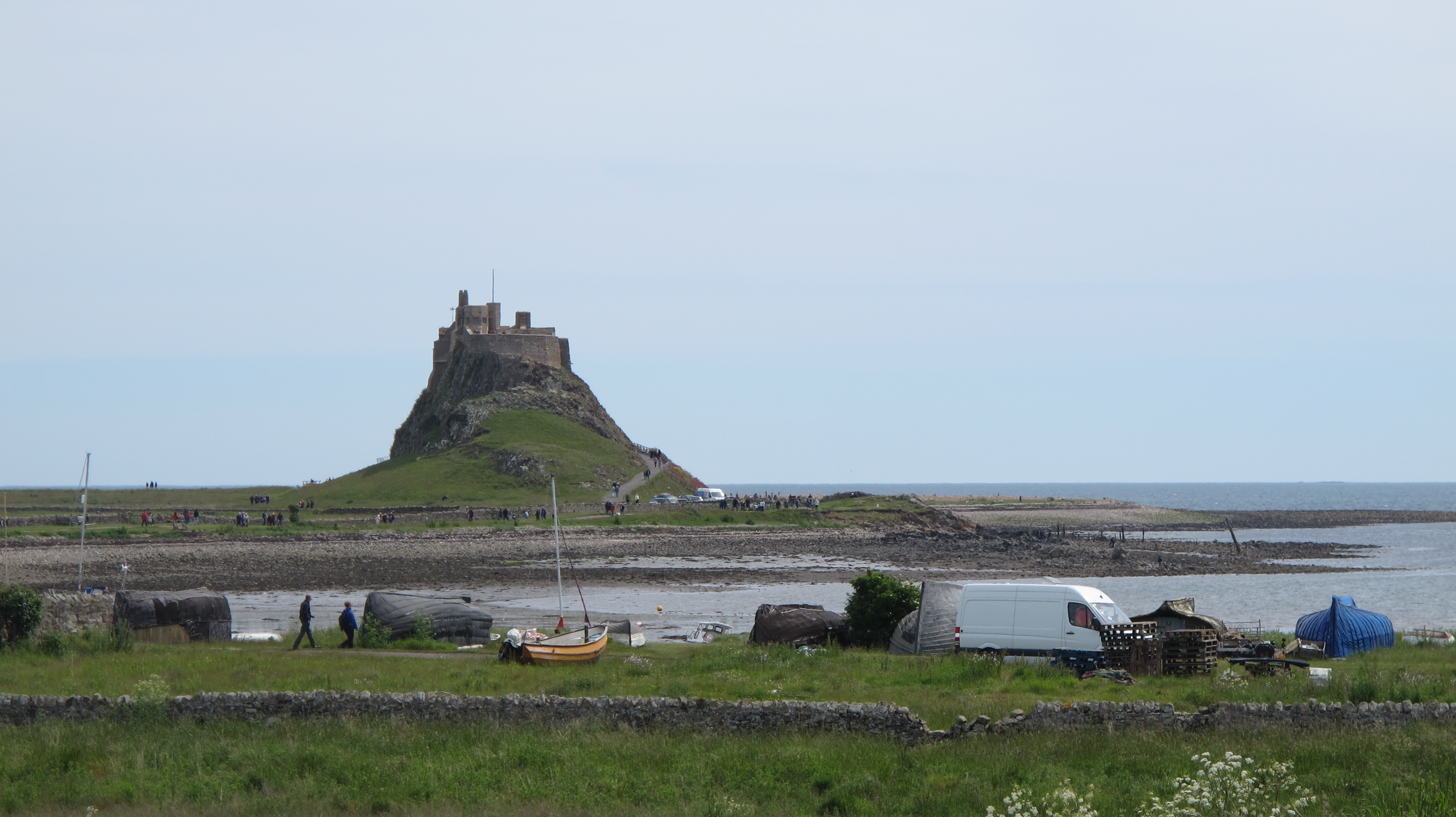 The best known landmark on Holy Island is a short stroll from the village itself.
