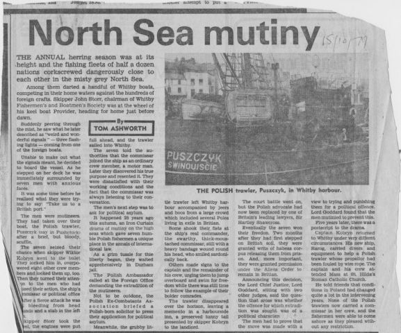 Feature about the mutiny by Polish fishermen 25 years ago