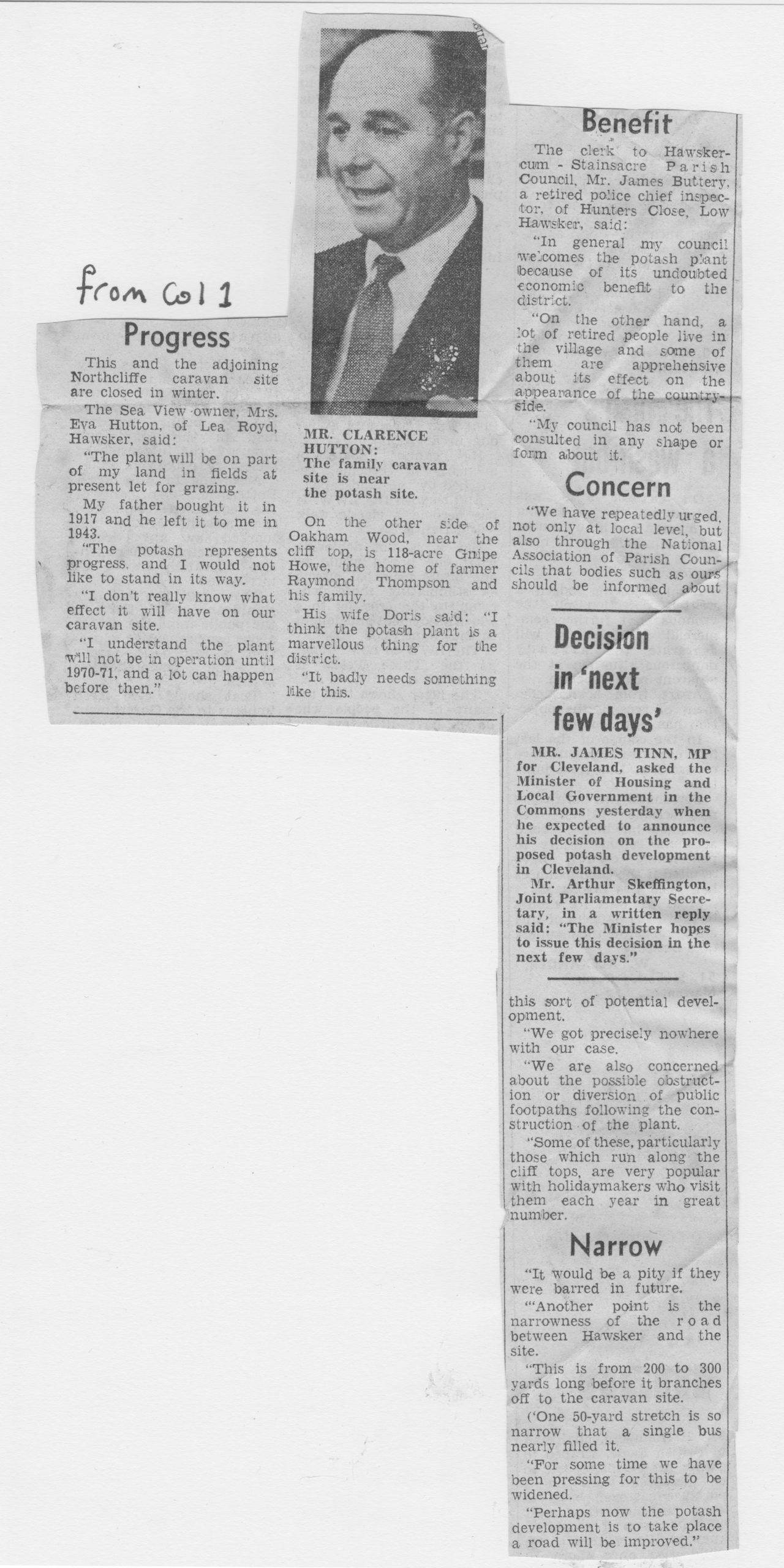 Potash mine site is at Hawesker, Page 2