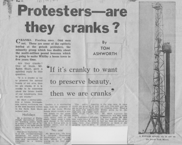 Are anti potash protesters cranks...Tom investigates