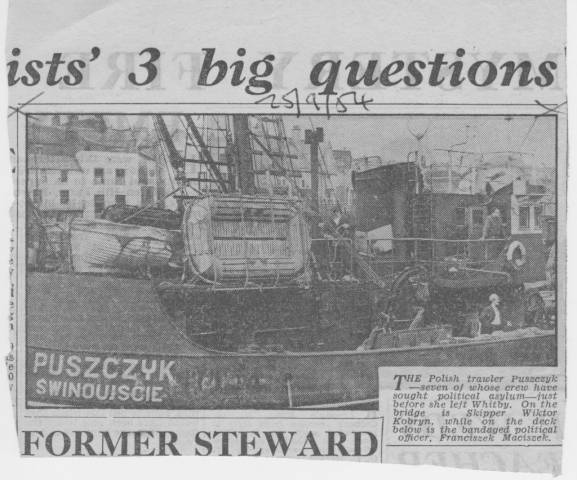 Picture of Polish Trawler whose crew sought asylum