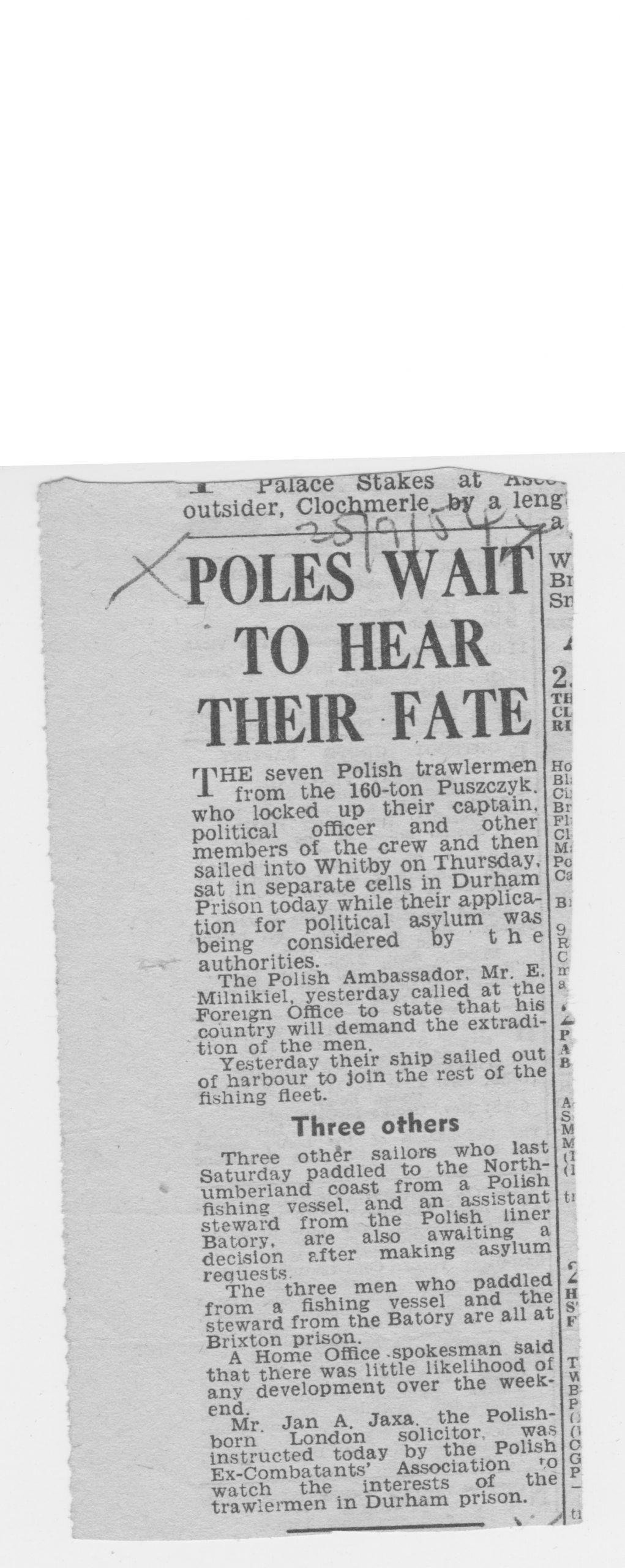 Polish crew awaits to hear their fate
