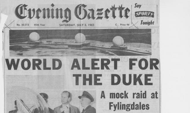 The Duke of Edinburgh visits RAF Fylingdales (in several parts)