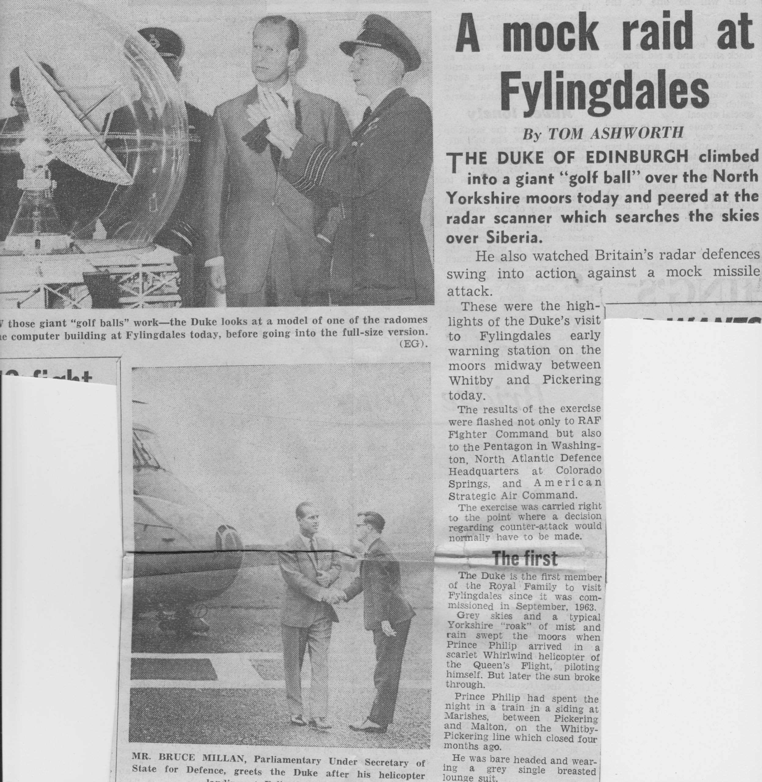 Part two of the Coverage of the Duke's Visit to Fylingdales