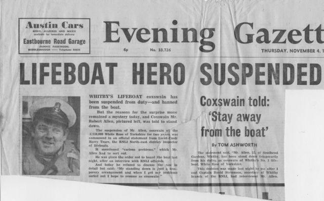 Coxswain of Whitby lifeboat is suspended 1 of 2
