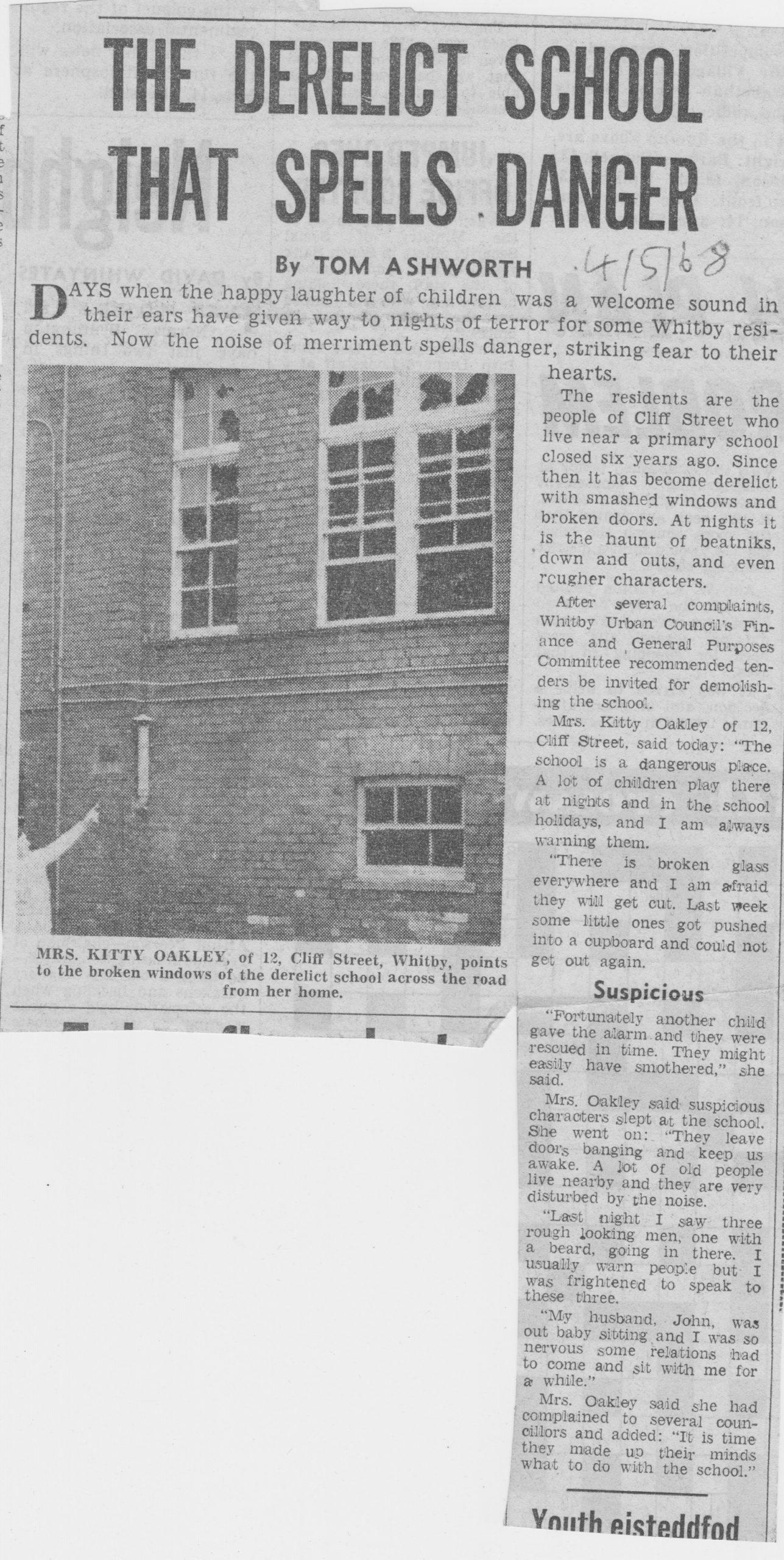 Former Cliff Street School is derelict and dangerous