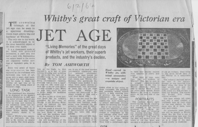 A look at the Whitby Jet manufacture