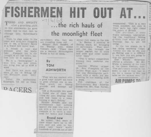 Professional Whitby fishing skippers hit out at part-timers