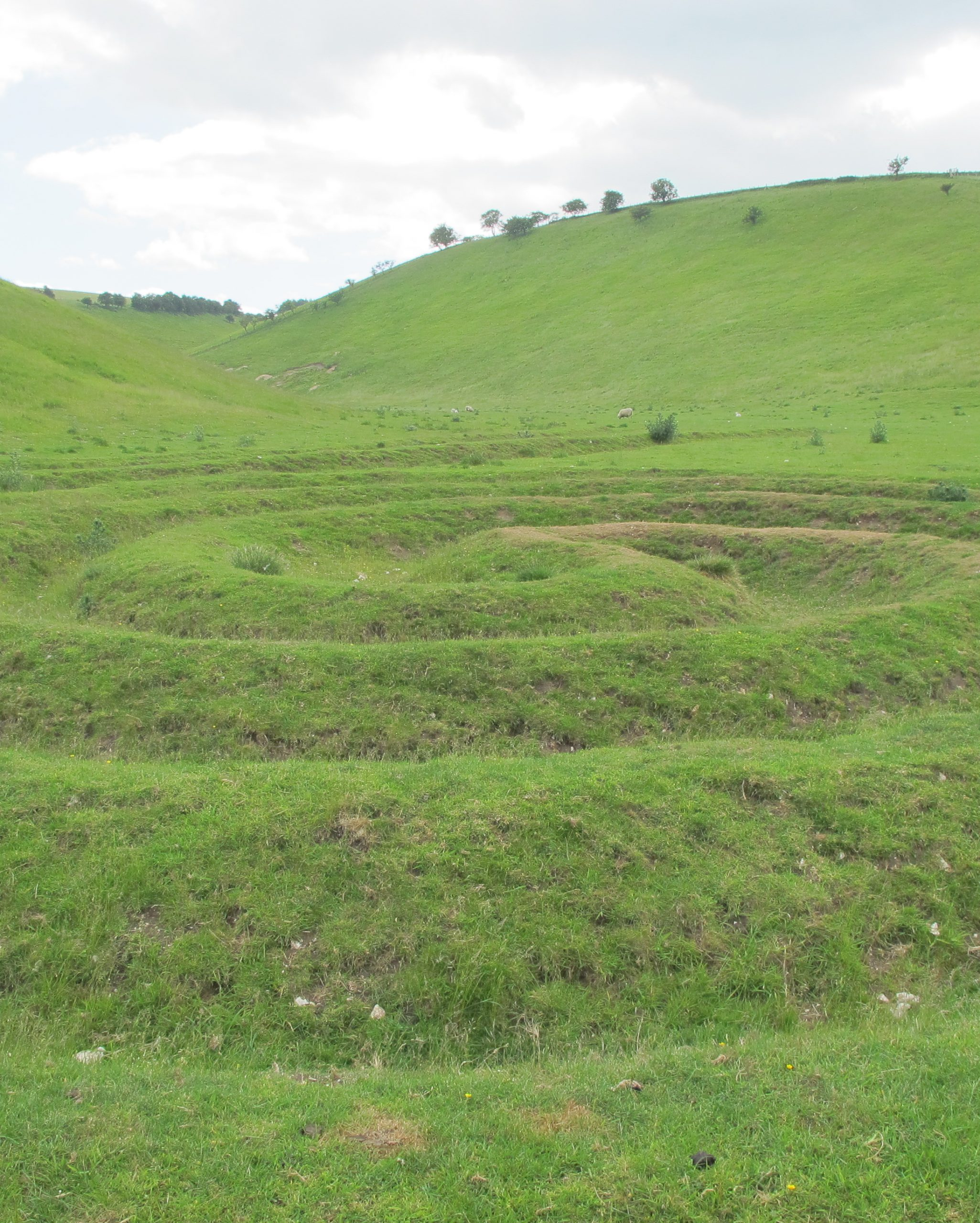 The artist Chris Drury was commissioned to create a new work of art Waves and Time in Thixendale