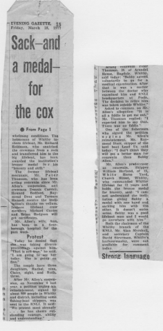 Sacked Coxswain story part 2